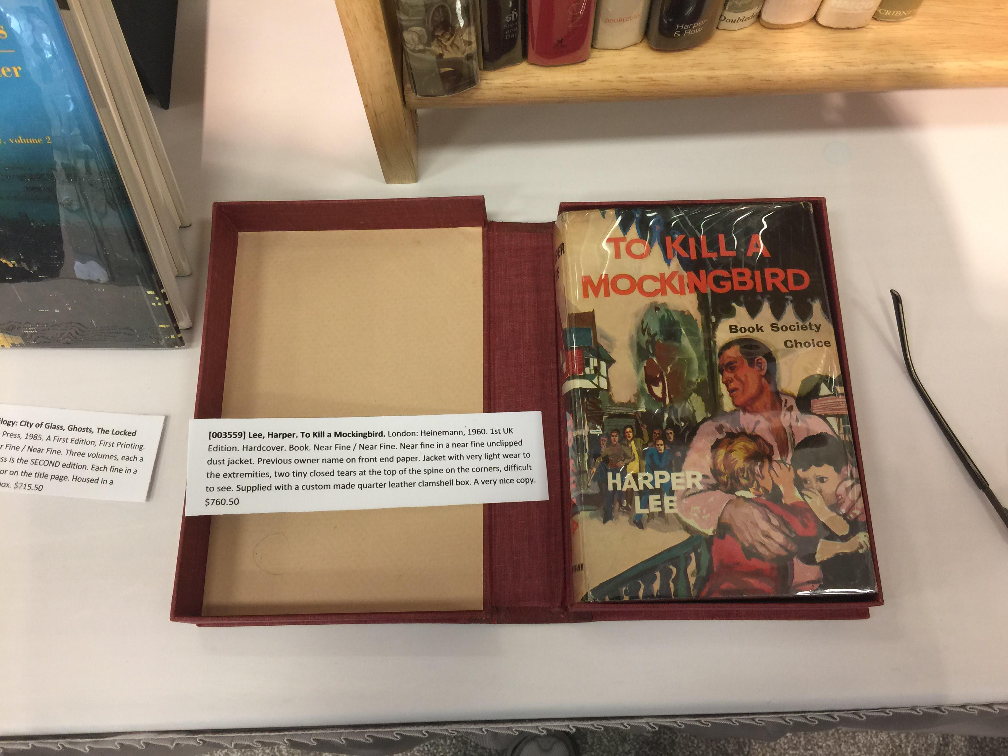 Harper Lee's To Kill a Mockingbird British first edition